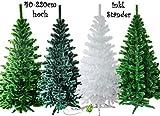 Künstlicher Tannenbaum inkl. Ständer (weiß, 180cm) // Christbaum Weihnachtsbaum Kunstbaum Tanne Baum