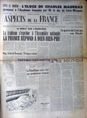 ASPECTS DE LA FRANCE [No 288] du 19/03/1954