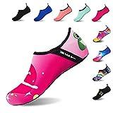 HMIYA Wasser-Schuhe, barfuß, schnelltrocknend, Slippers, für Aqua-Yoga, Strand, Surfen, Schwimmen, Wassersocken für Männer Frauen, - Ballet/Pink - Größe: 36/37 EU