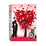 #9: Ven Techno Love Theme Wirebound Ruled Paper Sheets Personal And Office Stationary Notebooks Diary