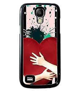 PrintVisa Metal Printed Heart Designer Back Case Cover for Samsung Galaxy S4 Mini I9190/ I9192-D4937