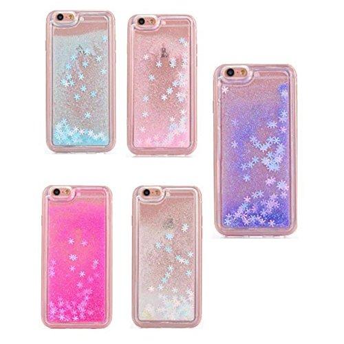 iPhone 6S Plus Hülle,iPhone 6 Plus/6S Plus Hülle Case,TOYYM 3D Kreativ Design Dynamisch Fließen Flüssig Handyhülle PC Hardcase Hüllen für Apple iPhone 6 Plus/6S Plus 5.5inch,Glitter Glitzer Sparkle Ha Schneeflocke#2