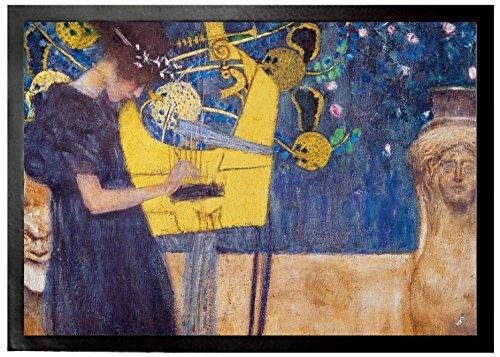 Gustav Klimt Felpudos Música 1895 Felpudo Alfombrilla (70 x 50cm)