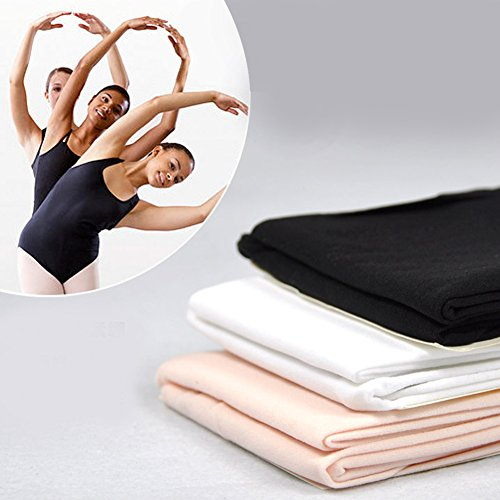 Tubwair Damen Ballett-Strumpfhose, Damen, Mädchen, Basic, Cabriolet, Übergang Ballett-Tanzstrumpfhose, nahtlos, Größe L, Weiß - 6