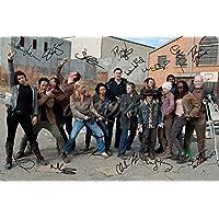 The Walking Dead Cast X14Signiertes Foto Druck N.O 2–Super Qualität–30,5x 20,3cm (A4) -