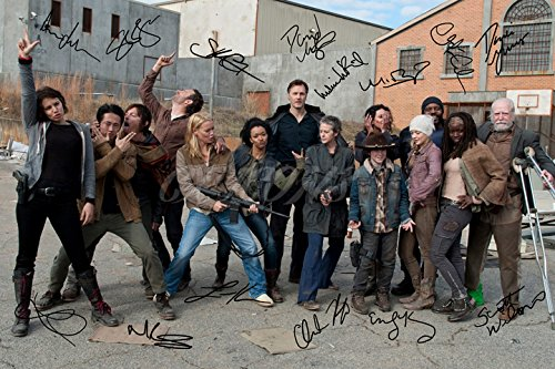 The Walking Dead Cast X14 Signiertes Foto, Druck, N.O 2 – Super Qualität – 30,5 x 20,3 cm (A4) Bilder Von The Walking Dead Cast
