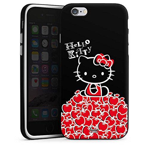 Apple iPhone X Silikon Hülle Case Schutzhülle Hello Kitty Merchandise Fanartikel Black Silikon Case schwarz / weiß
