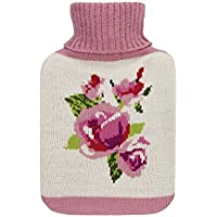 Aroma Home Wärmflasche mit gestricktem Bezug, Rosen-Motiv, parfümiert, Duft Rose und Geranien preisvergleich bei billige-tabletten.eu