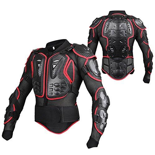 Armatura Moto Protezione di Motocross Giacca Moto Corpo Armatura Indumenti di Protezione Completa Moto Professionale Sportivo per Donna Uomo Adulto Spina Dorsale Tuta da Motociclista XXXL Rosa