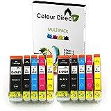 Colour Direct  -  10 XL Cartuchos de tinta de alta capacidad para EPSON XP-510 XP-520 XP-600 XP-605 XP-610 XP-615 XP-620 XP-625 XP-700 XP-710 XP-720 XP-800 XP-820