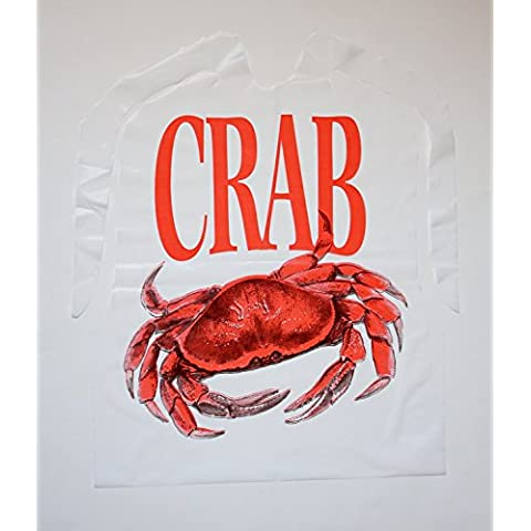 Disposable Crab Plastic Bibs 24 Count by Tablemate