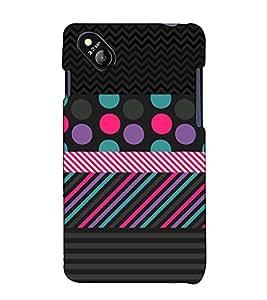 Fuson Designer Back Case Cover for Micromax Bolt D303 (Black designer theme)
