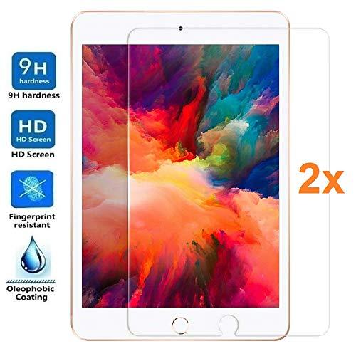 REY 2X Protector de Pantalla para iPad Mini 5, 4, 3, 2, 1, Cristal Vidrio Templado Premium, Táblet, Electrónica