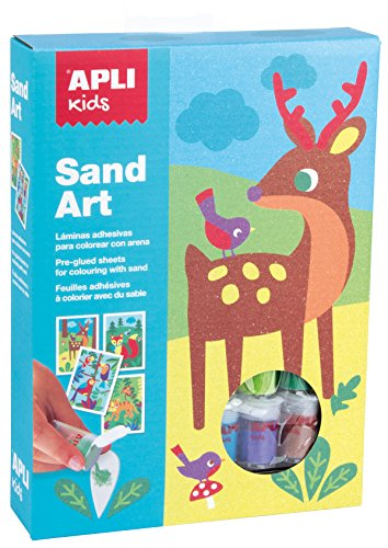 APLI apli13749Sand Art Farbe mit Sand Kit (4-teilig)