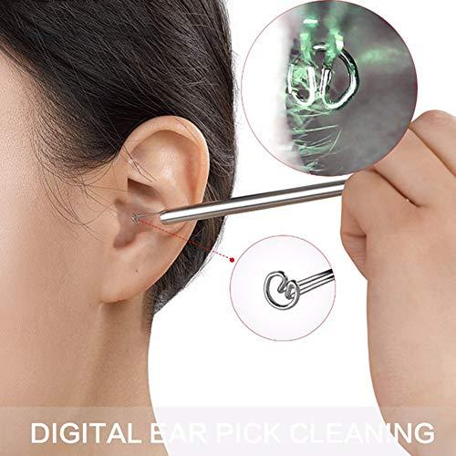 Ear Cleaning Endoskop, Digital Visible Ohr Wachs Entferner Tool Edelstahl Löffel Sicher Gesunde Reinigung Ohr Pflege