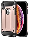 iPhone XR Case Cover, By DN-Alive [Tough] [Rugged] [Armor] [Heavy Duty] [6 Feet Drop Proof] [Slim] [Shock Proof] [ARMOUR] [Dust Proof] [Protective] [Back Case] (ROSE GOLD)