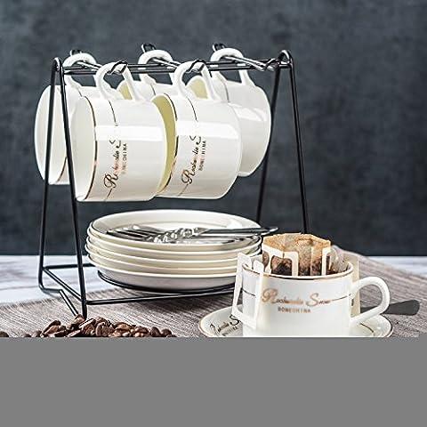 MSRRY Continental ceramica Phnom Penh tazza da caffè kit telaio con osteoporosi tazza di porcellana convogliatore