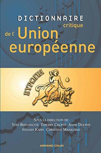 Dictionnaire critique de l'Union europenne
