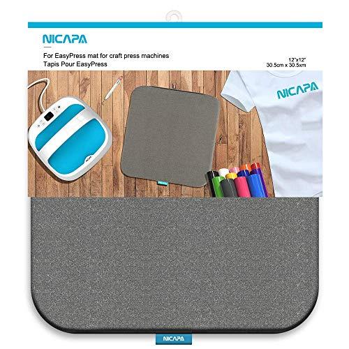 NICAPA Heat Press Matte für Cricut Easypress [12x12 Zoll] Cricket Craft Vinyl Bügeleisen Isolierung Transfer Heizmatten für Easypress 2 -