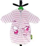 Bebi Bambina Sacco Nanna a Maniche Lunghe Con Peluches morbido qualità di marca 955pb disponibile in diverse taglie rosa rosa 68