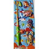 SLYTEK Magnetic Fishing Game Series Toy for Kids with Fishing Net, Fishing Rod & 4 Different Colorful Fishes