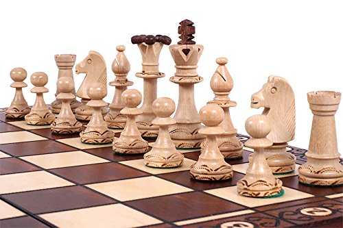KADAX-Schachspiel-aus-Holz-48-x-48-cm-klappbar-Schach-fr-Erwachsene-Kinder-Anfnger-hochwertiges-Schachbrett-mit-Figuren-Elegante-Schachkassette-fr-Haus-Reise-tragbar