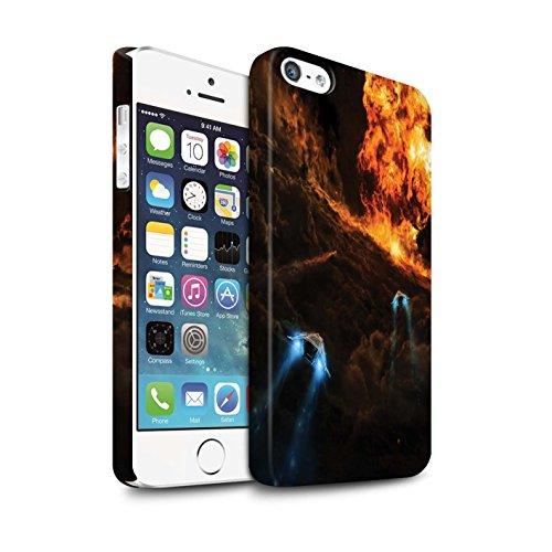 Offiziell Chris Cold Hülle / Matte Snap-On Case für Apple iPhone SE / Pack 12pcs Muster / Fremden Welt Kosmos Kollektion Chaos Entfesselt