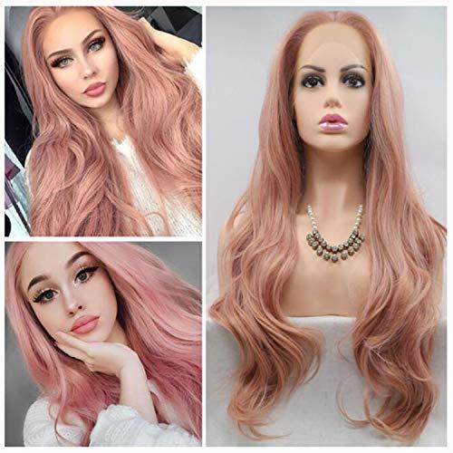 se Große Welle Perücke Lace Front Kunstfaser Haar Natürliche Dauerwelle Haar Gefärbt Hohe Temperatur 24 Zoll Rollenspiele Halloween ()