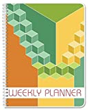 """BookFactory Blank Weekly Calendar (Works for Any Year - 112 Pages - 8.5"""" X 11"""") / Weekly Planner / Weekly Organizer [Wire-O Bound] (JOU-112-7CW-A(BLANK-WEEKLY-CAL)"""