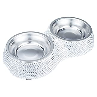 1 x Stainless Steel Dog Bowl Cat Puppy Pet Non Slip Food Water Feeder Quality Feeding Supplies (Brown, Medium) 1 x Stainless Steel Dog Bowl Cat Puppy Pet Non Slip Food Water Feeder Quality Feeding Supplies (Brown, Medium) 51eLyc4uPtL