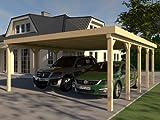 Carport Flachdach AVUS VI 600x700 cm KVH Bausatz Konstruktionsvollholz