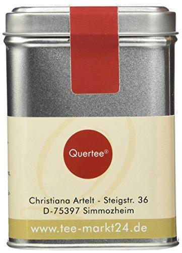 Quertee – Bio – Früchtetee – Orange Ingwer in einer Teedose – 100 g – Loser Tee, 1er Pack (1 x 100 g)