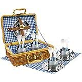 Tachan - Set picnic vichy en cesta de mimbre (CPA Toy Group 20517)