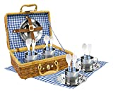 TACHAN - Set Picnic Vichy in Cestino di Vimini, Cpa Toy Group 20517