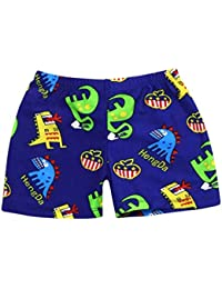 Ourhomer Toddler Baby Boys Swim Trunks Kids Summer Quick Dry Cartoon Sports Swimwear Swimming Pants Print Stretch (6T, Dark Blue)