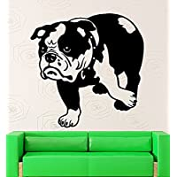GGWW Dog Wall Stickers Vinyl Decal Bulldog Pets Animal Decor For Room (I296)