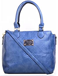 Hopping Street Blue Faux Leather women Hand Bag