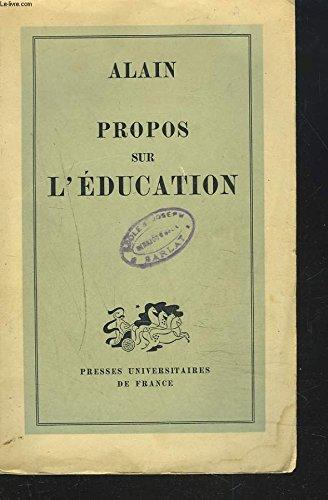 Propos sur l'éducation