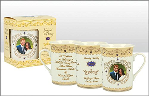 H.R.H. Príncipe Harry & Meghan Markle Royal conmemorativa de la boda 19th mayo 2018 Fine China Taza