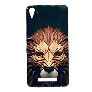 ksc sales New Rubber Finish Printed Silicone Soft Back Case Cover For Micromax Canvas Juice 3+ Q394
