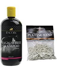Lincoln Magic White Horse Shampoo 500ml - FREE Plaiting Bands by LINCOLN