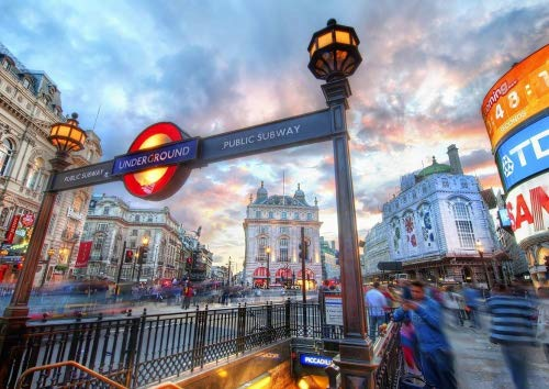 Poster, Motiv London PICCADILLY CIRCUS LANDMARK UNITED KINGDOM (A2, 594 x 420 mm) -