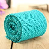 #9: Tradico Colorful Handicraft Vintage Jute Hessian Braid Lace Ribbon Wedding Party Wrapping Decoration