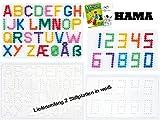 HAMA Stiftplatten-Set midi Buchstaben + Zahlen + Malheft