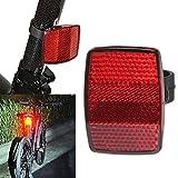 OHQ Fahrradbeleuchtung Fahrrad Fahrrad Vorne Hinten Warnung Lenkerhalterung Sicher Reflektor (Rot)