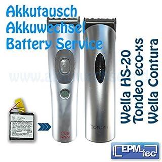 Akkuwechsel für Wella Xpert / Wella Contura HS40 HS 41 HS 60 HS 61 / Tondeo eco-xs - Service Akkutausch Akku Batterie Replace Umbau - HS 40