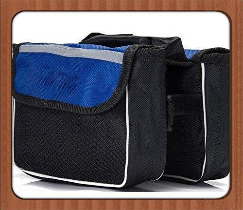 FAN4ZAME Fahrradschlauch Tasche Mountainbike Sattel Tasche Tasche Auto Vorne Strahl Strahl Ein Auto Gepäck Tasche Tasche Large blue