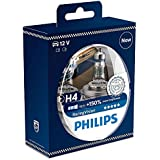 Philips RacingVision +150% H4 Headlight Bulb 12342RVS2, Twin Pack