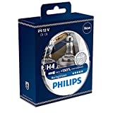 Philips RacingVision +150% H4 Headlight Bulb 12342RVS2,...