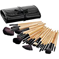 Solimo Makeup Brush Set With PU Leather Case (24 Pieces)